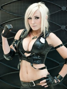 Call of Duty Alexis cosplayed by Jessica Nigri. Nigri was apparently paid $15,000 to wear this outfit to P.F. Chang's.
