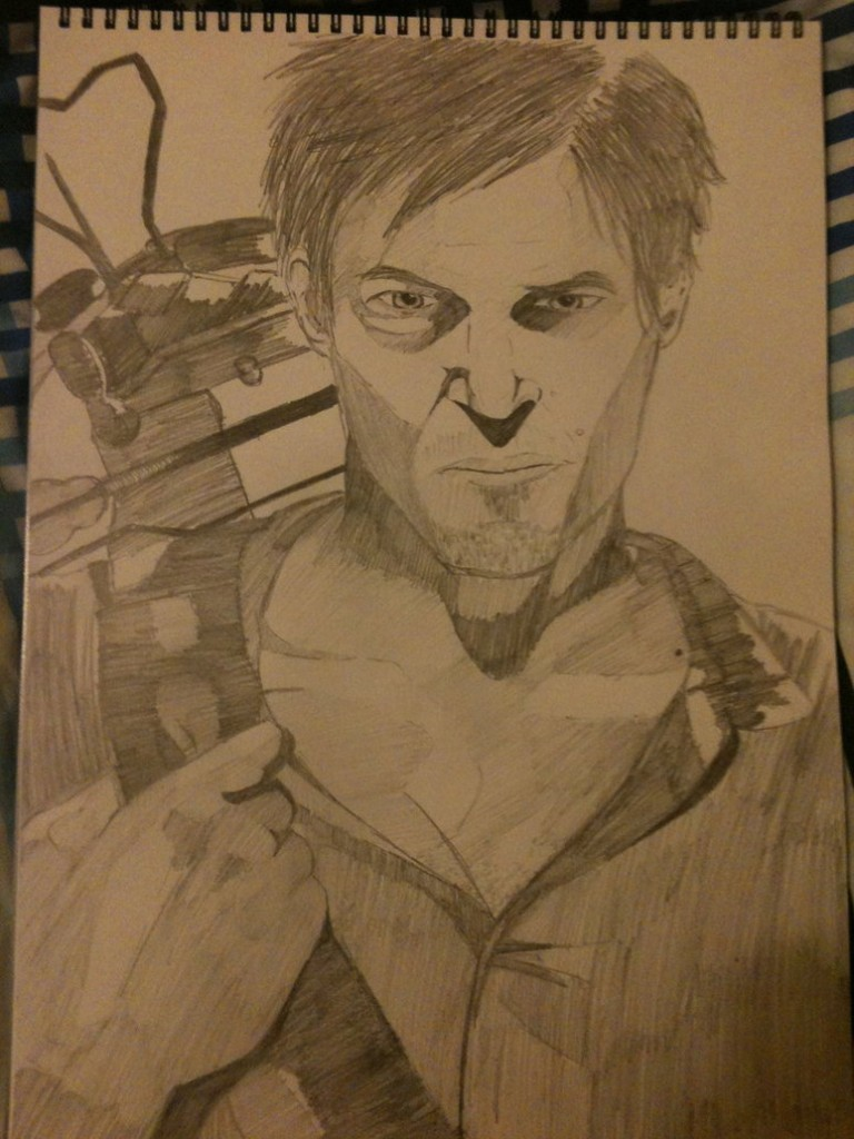 Daryl Dixon, as drawn by Daryl Dixon.