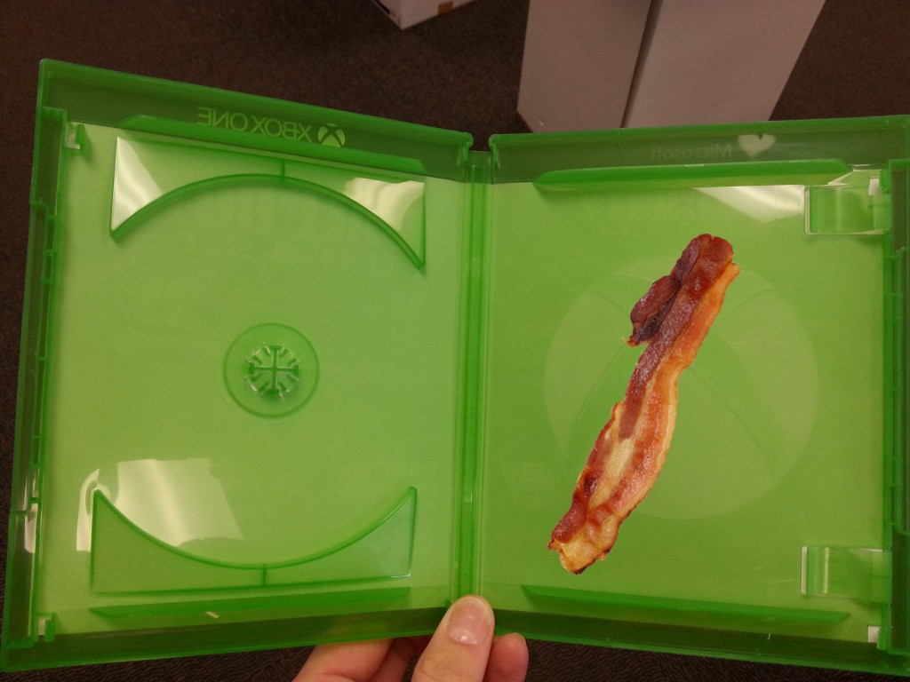 A prototype of the new  bacon-filled cases that both Sony and Microsoft will be implementing in as early as Q4 2014.