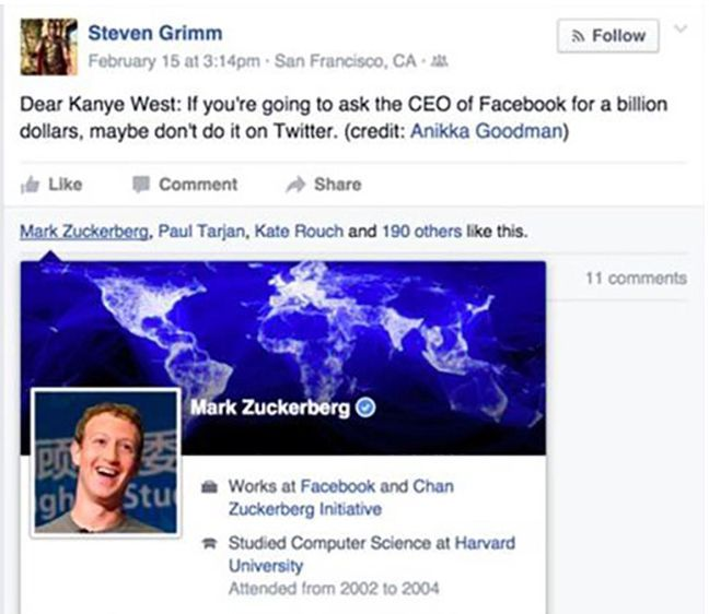 "In case you needed another reason to hate Mark Zuckerberg...Add ""not supporting artists"" to that list."